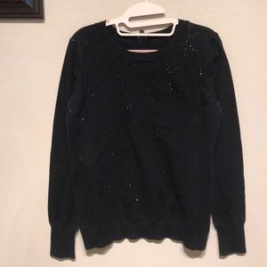 Black Rhinestoned Express sweater